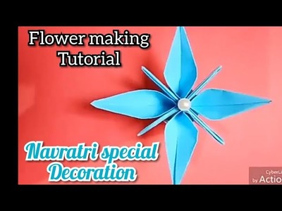 Home decoration flower tutorial DIY | Christmas decoration | Christmas decoration flower tutorial