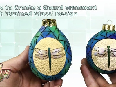 How to Create a Stained Glass Ornament From a Gourd