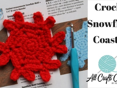 How to crochet a snowflake coaster -  Easy to crochet snowflake