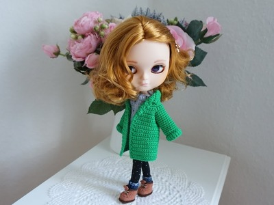 How to crochet doll blazer jacket. doll clothes