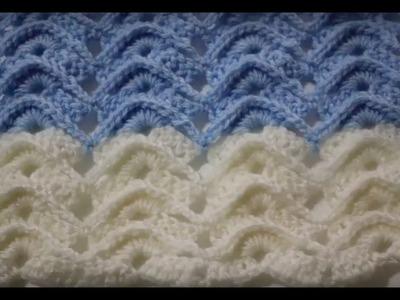 How to Crochet Fancy Ripple Wavy Stitch