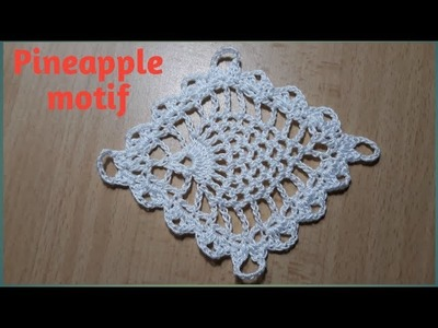 How to crochet Pineapple square motif: Crochet motif