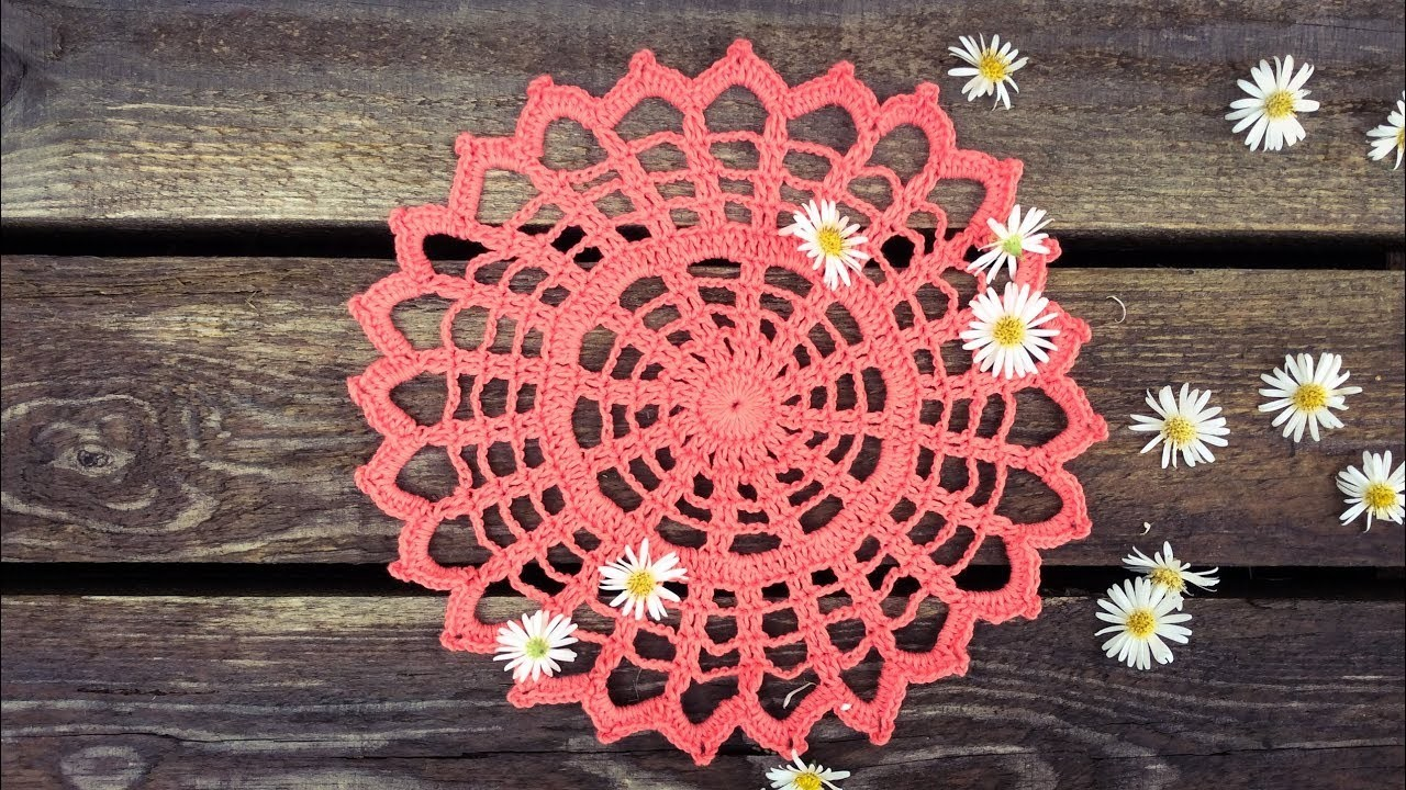 How To Crochet Spiderweb Doily Easy For Beginners