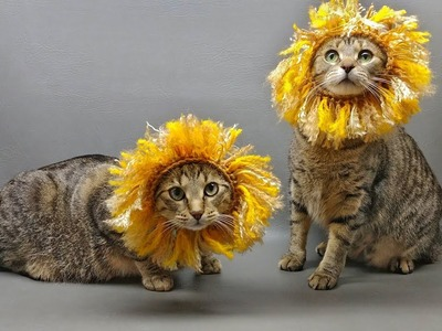 How to Crochet Tutorial: Lion Mane Cat Hat Costume by YARNutopia