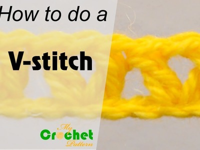 How to do a V-stitch - Crochet for beginners