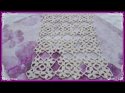How to JOIN Easy to Crochet Lace Motif for Tablecloth #2