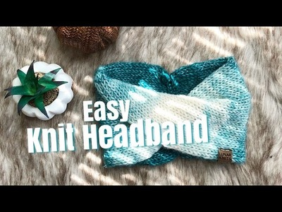 How To Knit: Easy Double Knit Turban Headband