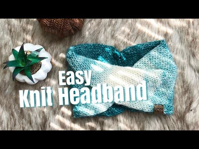 How To Knit: Easy Double Knit Turban Headband