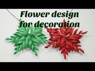 How to make 3D star for Christmas decoration || Flower design for Christmas decoration ||