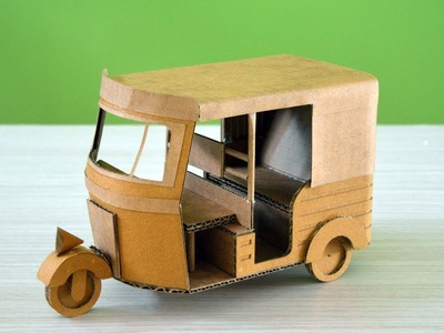 How to Make a Auto Rickshaw from Cardboard at home
