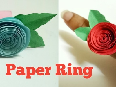 How To Make A Beautiful Easy Color Paper Ring | Paper Folding Ring By Mimu Craft Ideas