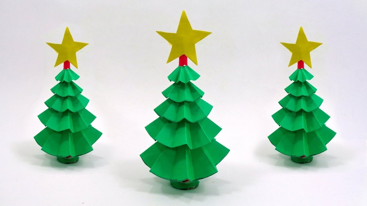 How To Make a Christmas Tree out of Paper for Christmas Decorations