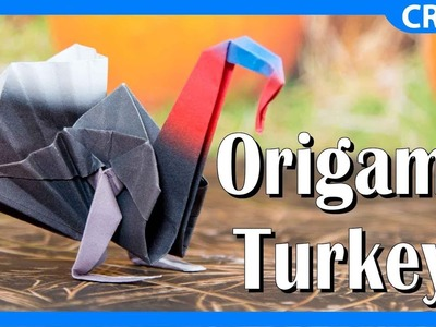 How to Make an Origami Turkey | Thanksgiving Paper Craft Tutorial and Template