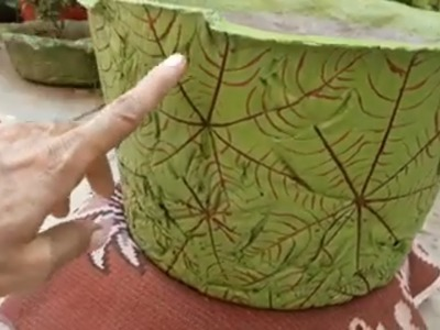 How to make beautiful cement pot at home easily:-