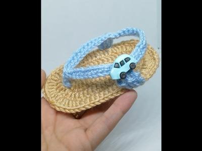 How to make Crochet sandals for Baby Boys & Girls| Crochet Baby Boy Sandals| KHOUZH