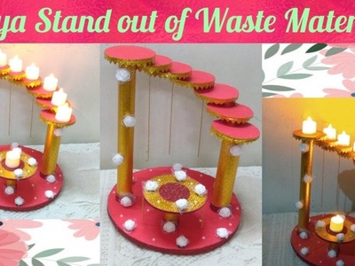 How to make Diya Stand out of waste material