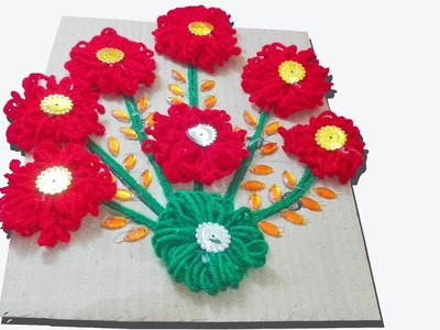 How to make Woolen wall Hanging Making At Home.Beautiful wall hanging Toran