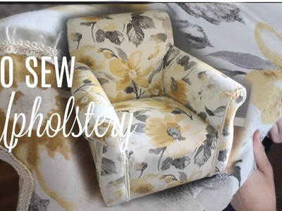 HOW TO REUPHOLSTER A CHAIR. NO Sew!. Next Level Lifestyle Series