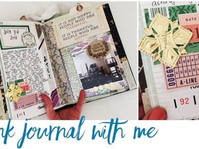 Junk Journal With Me - Ep 12   Journalling Process Video