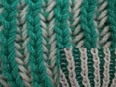 #Knitting Design.pattern.reverseble pattern.two colours knitting design in Hindi.(English subtitles)