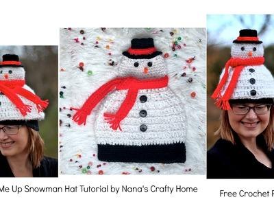 Light Me Up Snowman Hat Free Crochet Pattern Tutorial