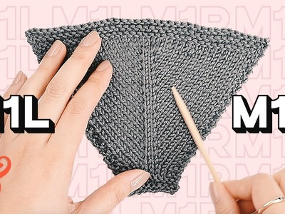 M1R and M1L Knitting Increase
