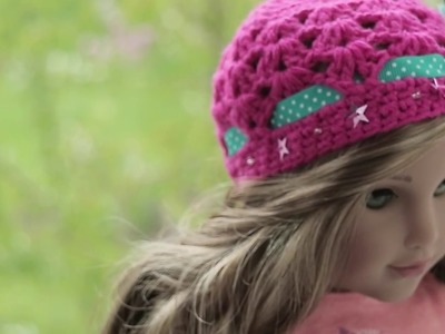 Making the Ribbon and Stars Doll Hat