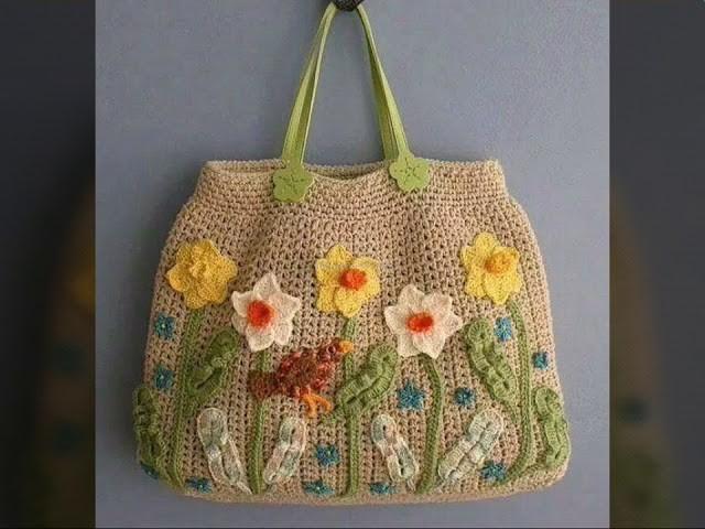 Most beautiful ladies crochet bags design 2017