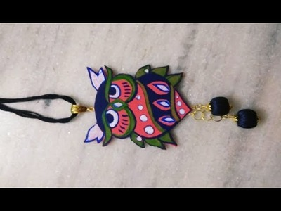 Owl pendent making tutorial.how to make modern pendent.tribal jewellery making tutorial