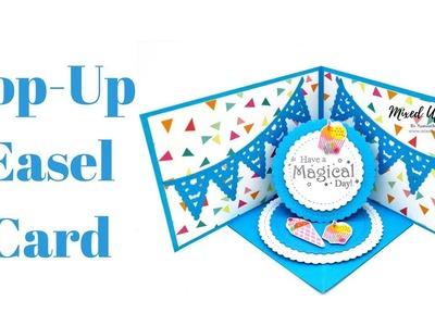 Pop-Up Easel Card | Corner Easel Card | Original Design