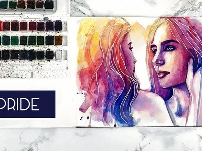 Pride | Time Lapse Watercolour Speed Painting