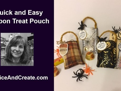 Ribbon Treat Pouch for Halloween and Thanksgiving