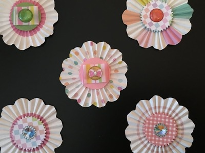 Rosettes From Mini Cupcake Liners