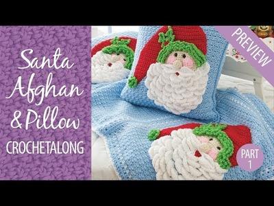 Santa Afghan & Pillow Crochetalong Part 1 Free Preview