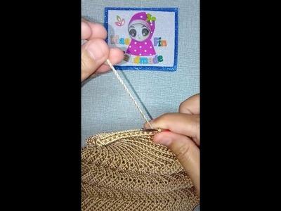 Seashell Bag Tutorial (Poly Indon) Part 2 sambung benang baru