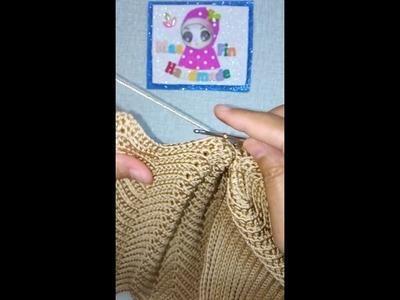 Seashell Bag Tutorial (Poly Indon) Part 3 cantum ombak dan tapak sambung