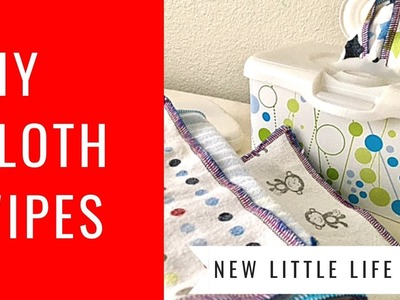 Serging Cloth Wipes - DIY Tutorial How to make cloth wipes for cloth diapering