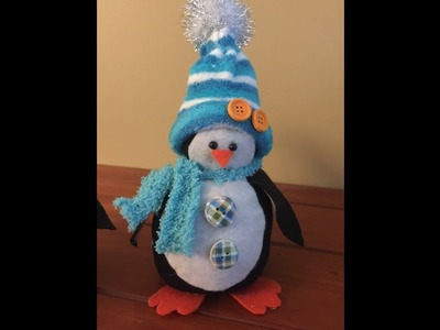 Sock snowman, penguin & Santa (previously live)