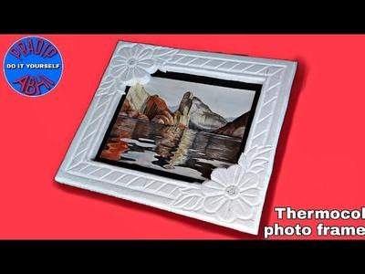 Thermocol photo frame