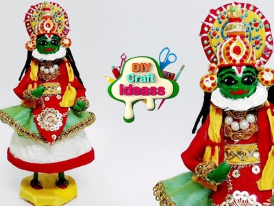 TOTALLY AMAZING DOLL CRAFTS | Kathakali doll | Doll Crafts |  best out of waste | diy craft ideas