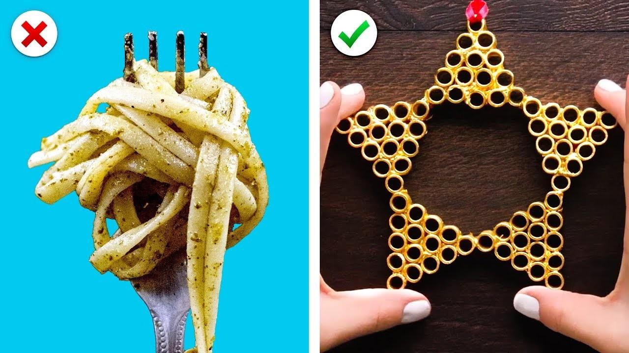 Turn Pasta into Christmas Decor, Plus More DIY Christmas Decoration Ideas
