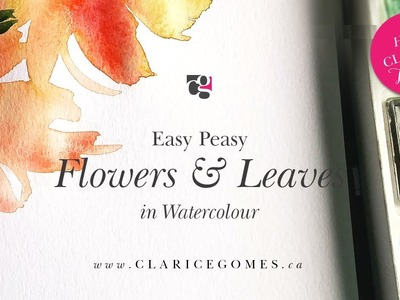 Tutorial on how to paint watercolour flowers - Hello Clarice Tutorials