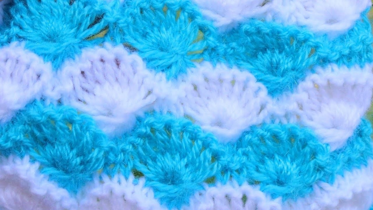 Two colour Knitting Flowers Design