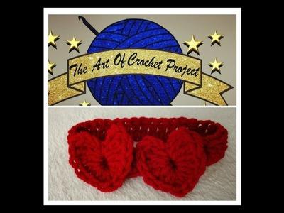 Two Hearts Headband For Advanced Beginners Crocheters