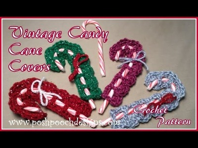 Vintage Candy Cane Cover Crochet Pattern