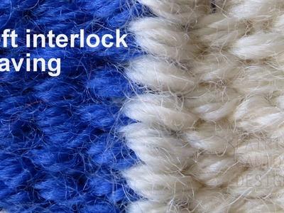 Weft interlock weaving technique - weaving lessons for beginners
