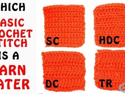 Which Basic Crochet Stitch is a Yarn Eater
