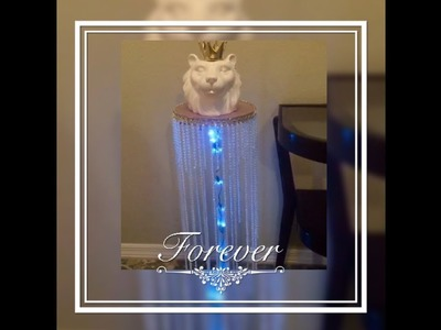 DIY Light Up Pedestal Stand Perfect Table For A Baby Shower Creating Elegance for Less  2018