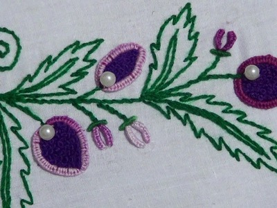 Hand Embroidery : Buttonhole Stitch & Twisted Chain Stitch