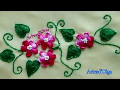 Hand embroidery design for blouse | Blusa bordada a mano | Artesd'Olga